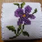 motif point de croix serviette