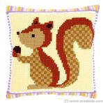 point de croix ecureuil