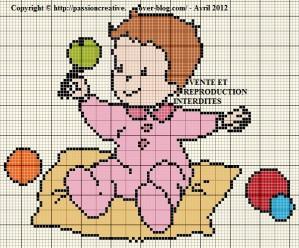 point de croix naissance fille gratuit #12