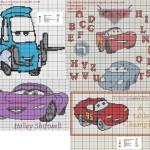 grille point de croix cars