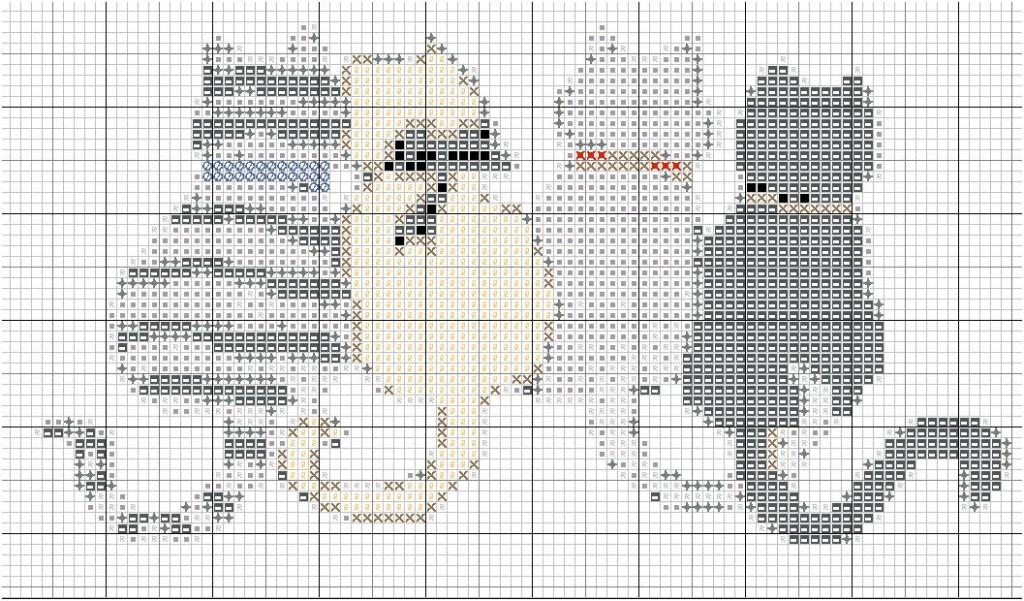 grille point de croix chat #7