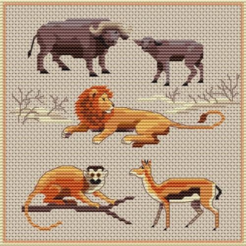 grille point de croix le roi lion #14