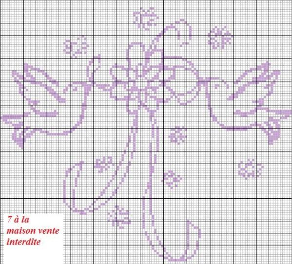 Grille point de croix mariage 4 - Grille gratuite point de croix coussin de mariage ...