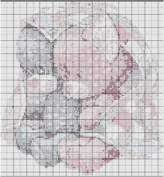 Grille point de croix ourson - Point de croix grille gratuite a imprimer ...