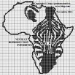 modèle point de croix africain