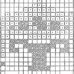 modèle point de croix frise