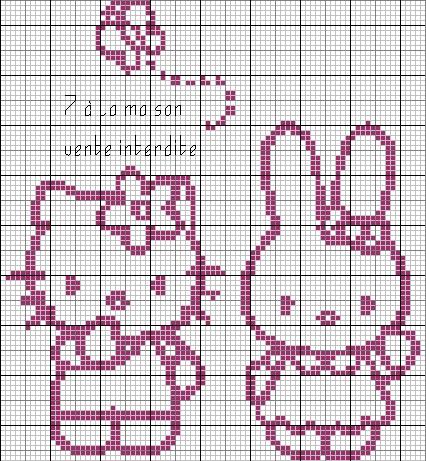 grille point de croix gratuite hello kitty #9