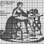 grille point de croix monochrome