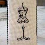 grille point de croix vintage