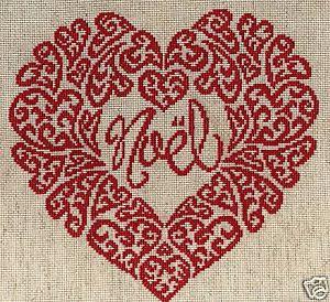 Mod le point de croix gratuit coeur 12 - Grille abecedaire point de croix gratuit ...
