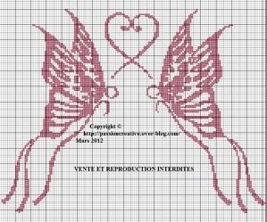 modèle point de croix gratuit coeur