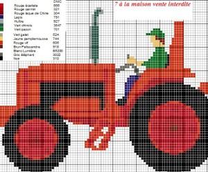 modèle point de croix tracteur