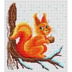 point de croix motif ecureuil