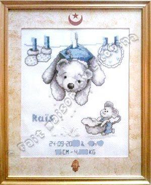 point de croix tableau de naissance