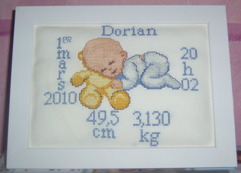 point de croix tableau de naissance #8