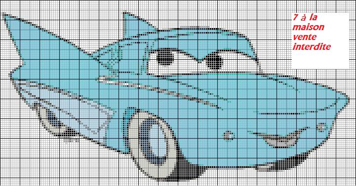 point de croix voiture cars