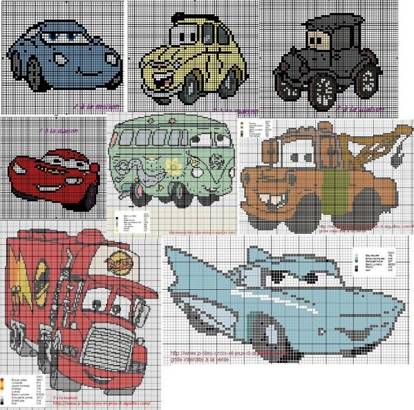 point de croix voiture cars #9
