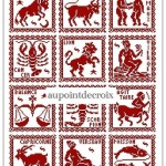 grille gratuite point de croix signe du zodiaque