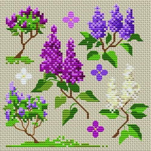 Grille point de croix fleur 16 - Broderie point de croix grilles gratuites fleurs ...
