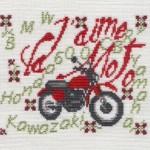 grille point de croix gratuit moto