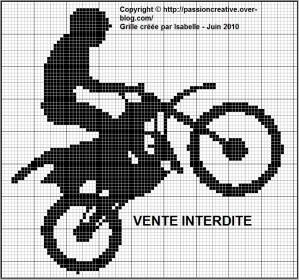 grille point de croix gratuit moto #8
