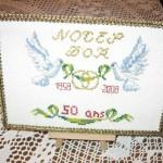modèle point de croix 50 ans de mariage