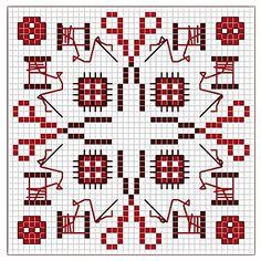 modèle point de croix layette