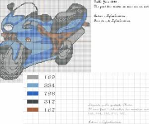 modèle point de croix moto