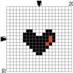 modèle point de croix simple