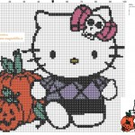 motif point de croix hello kitty