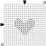 point de croix grille vierge