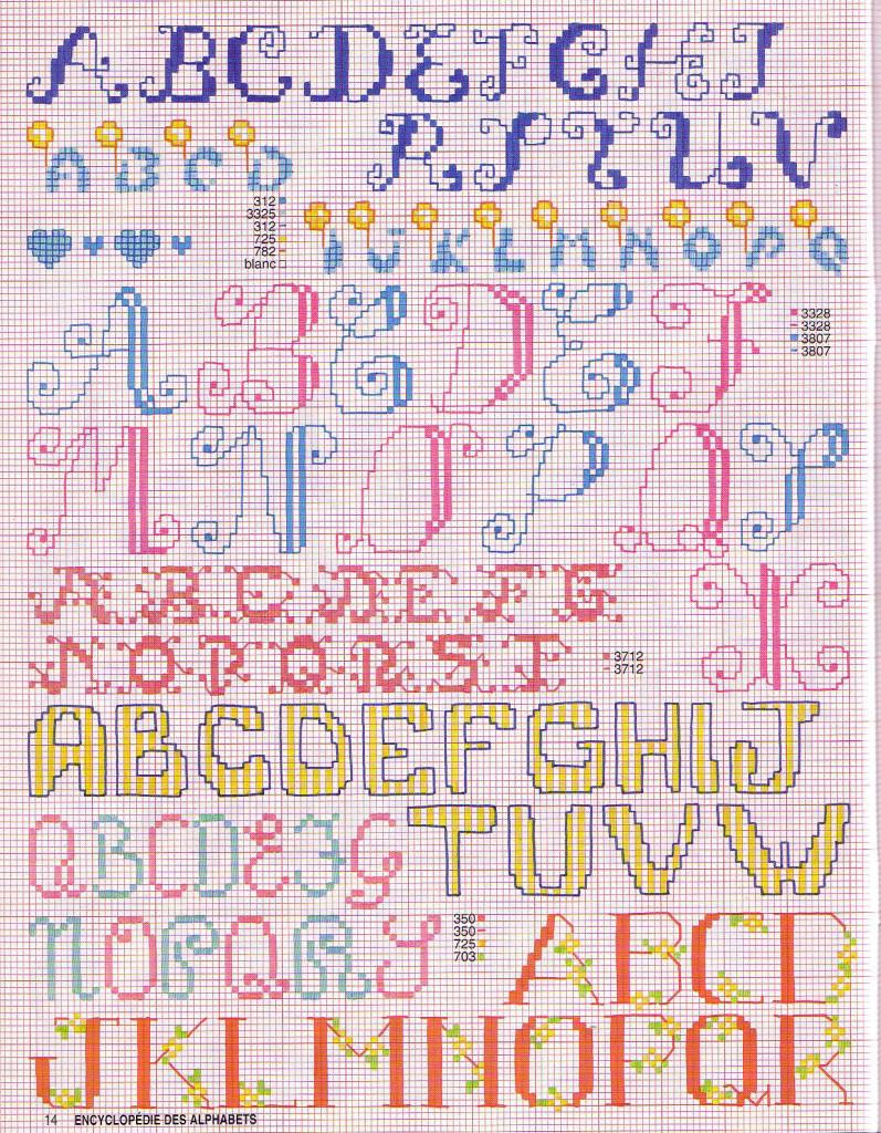 grille point de croix abecedaire #12
