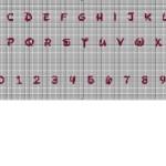 grille point de croix ecriture
