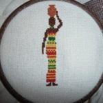 grille point de croix femme africaine