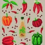 modèle point de croix fruits