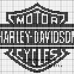 grille point de croix harley davidson