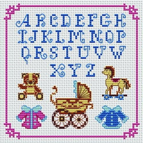 modèle alphabet point de croix #13