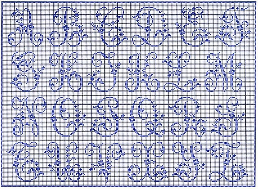 modèle alphabet point de croix #15