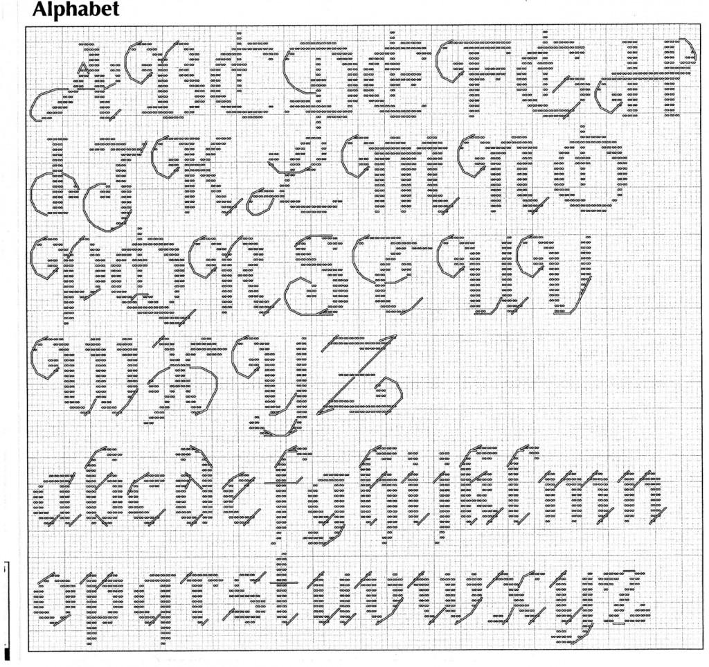 modèle point de croix gratuit abecedaire #11