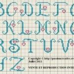 modèle point de croix gratuit abecedaire