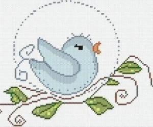 modèle point de croix oiseaux