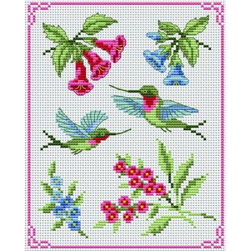 modèle point de croix oiseaux #7