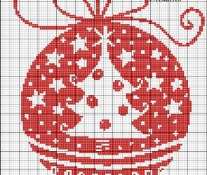grille point de croix rouge
