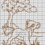 grille point de croix simba