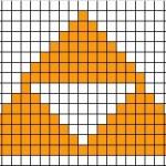 grille point de croix zelda
