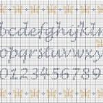 modèle ecriture au point de croix